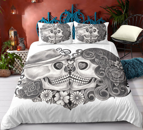 Image of H9 Skull Bedding Set
