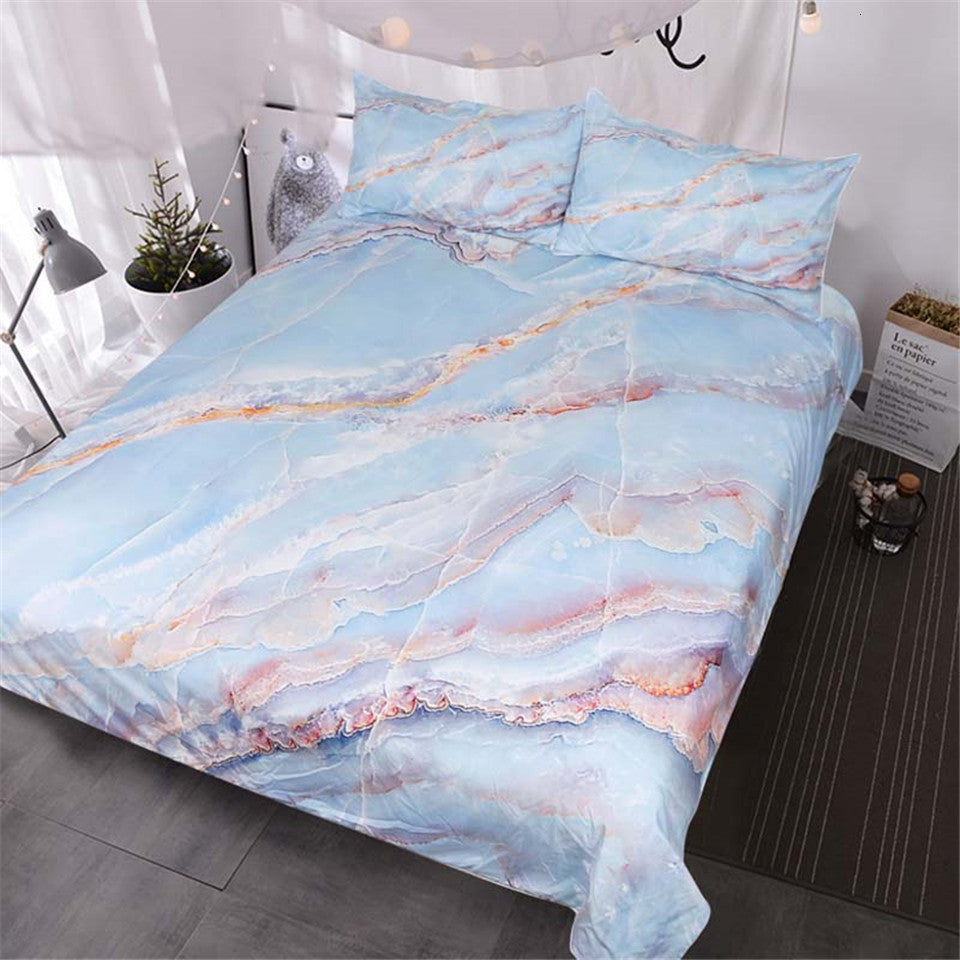 Abstract Natural Stone Bedding Set - Beddingify