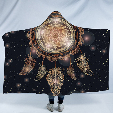 Image of Cosmic Dream Catcher Galaxy Hooded Blanket