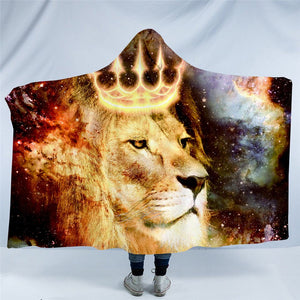 Holly Lion Cosmic Hooded Blanket