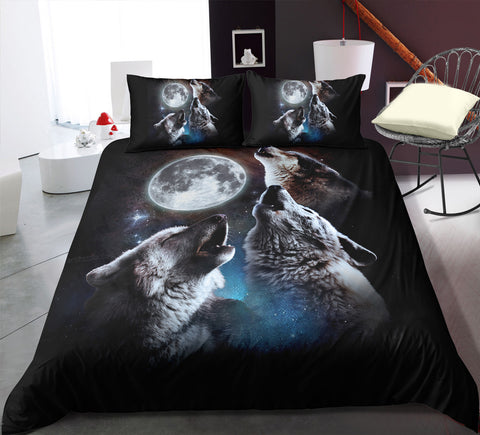 Image of Howling Wolves Bedding Set - Beddingify