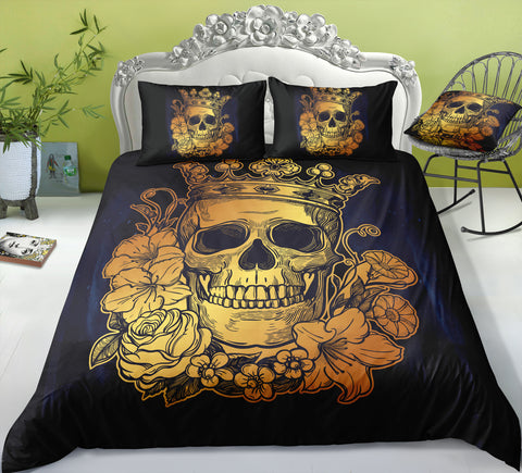 Image of I4 Skull Bedding Set