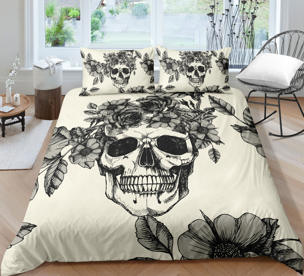 J3 Skull Bedding Set