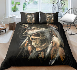 J6 Skull Bedding Set