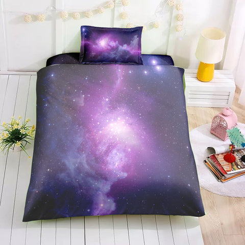 Image of Magical Purple Galaxy Bedding Set - Beddingify