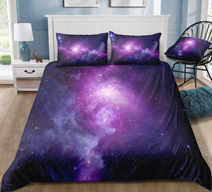 Magical Purple Galaxy Bedding Set - Beddingify