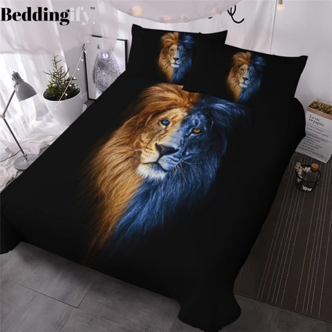 Artistic Male Lion Bedding Set - Beddingify