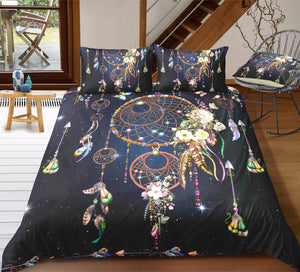 Night Sky Dreamcatcher Bedding Set - Beddingify