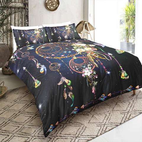 Image of Night Sky Dreamcatcher Bedding Set - Beddingify