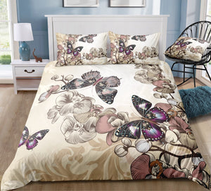 Orchid Butterflies Bedding Set - Beddingify