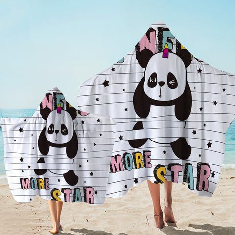 Image of I Need More Star Panda Hooded Towel
