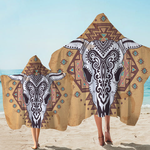 Image of Aztec Trophyhead Hooded Towel