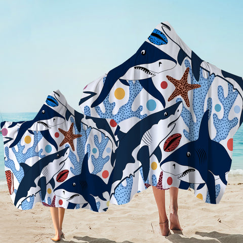 Image of Corals & Sharks Door Hooded Towel