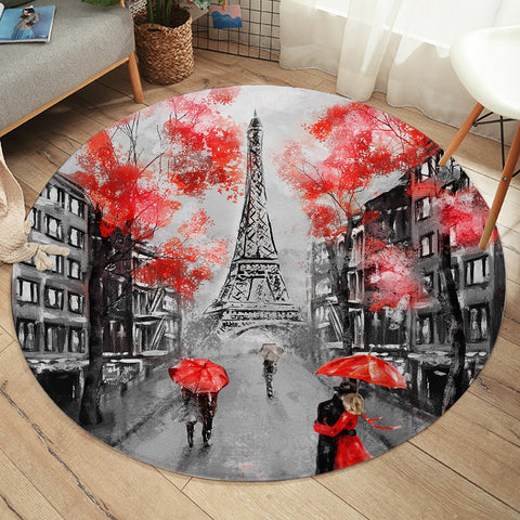 Romantic Paris SW1389 Round Rug