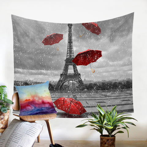 Rainy Paris SW1533 Tapestry