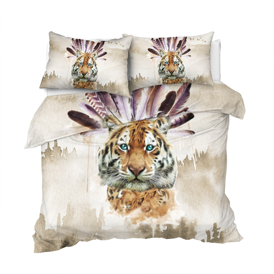 Tribal Tiger Bedding Set - Beddingify