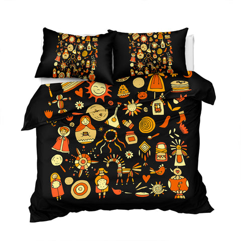 Image of Slavic Icons Black Bedding Set - Beddingify