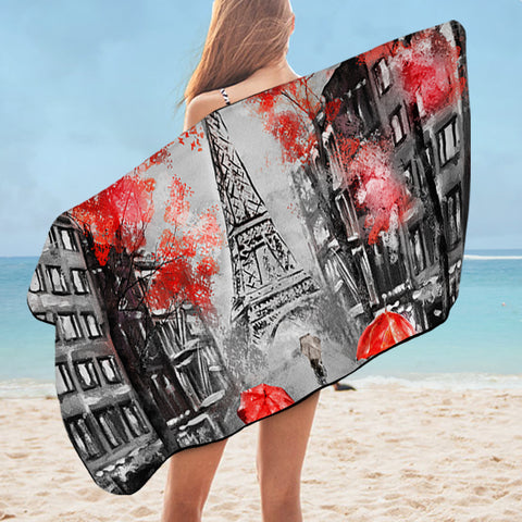 Rainy Paris SWYJ1389 Bath Towel