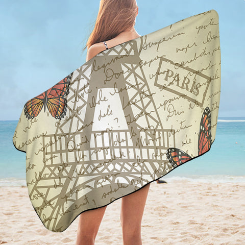 Paris Letter SWYJ1537 Bath Towel