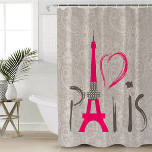 Paris SWYL0446 Shower Curtain