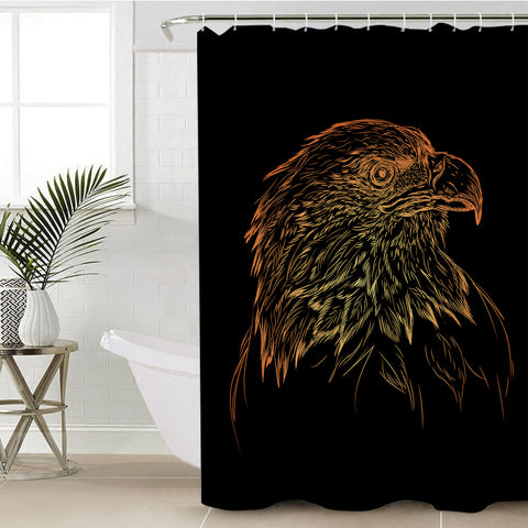 Image of Eagle Sketch SWYL0833 Shower Curtain