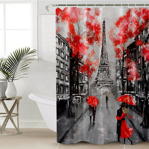 Romantic Paris SWYL1389 Shower Curtain