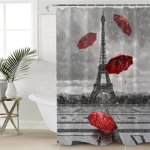 Rainy Paris SWYL1533 Shower Curtain
