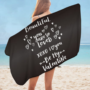 Be My Valentine SWYL3020 Bath Towel
