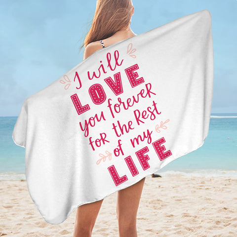 Image of Love Quote SWYL3021 Bath Towel