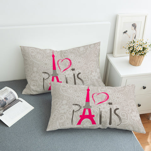 Paris Love SWZT0446 Pillowcase