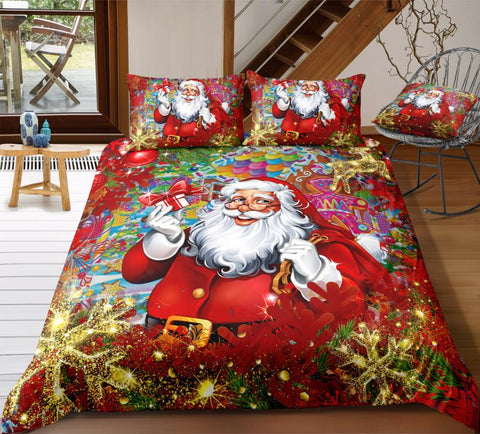 Image of Santa Claus Is Coming To Town Bedding Set - Beddingify