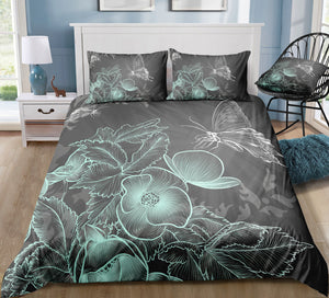 Shadow Butterflies Bedding Set - Beddingify
