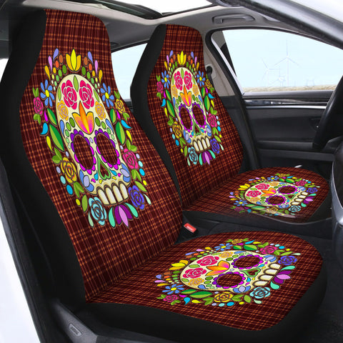 Image of Skull SWQT2082 Car Seat Covers