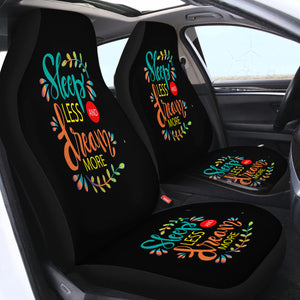 Sleep Less Dream More SWQT1912 Car Seat Covers