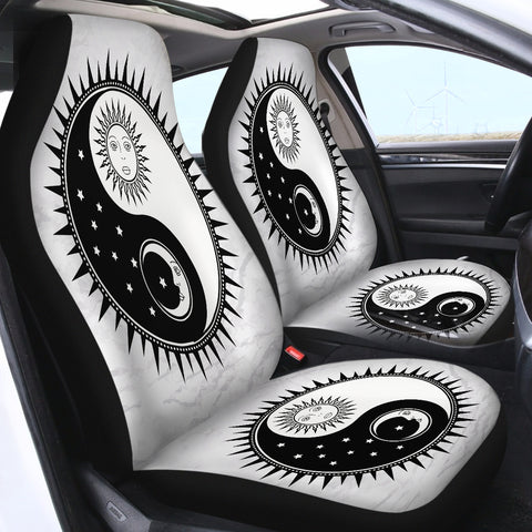 Image of Yin Yang Sun and Moon SWQT2473 Car Seat Covers