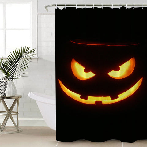 Image of Craved Pumpkin Shower Curtain