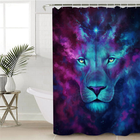 Image of Cosmic Lion Shower Curtain