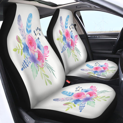 Image of Tie Dye Flowers SWQT2412 Car Seat Covers