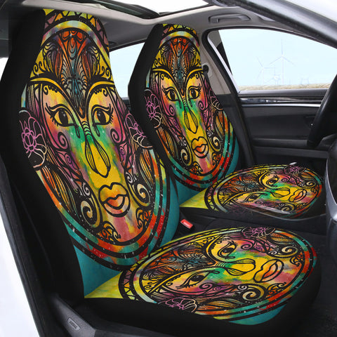 Image of The Mandala Face SWQT2389 Car Seat Covers
