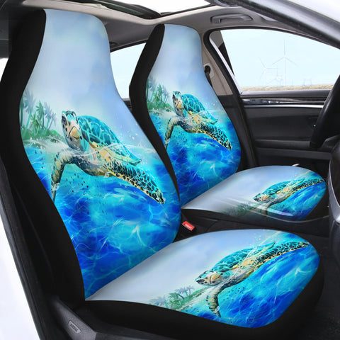 Image of The Original Sea Turtle SWQT0875 Car Seat Covers