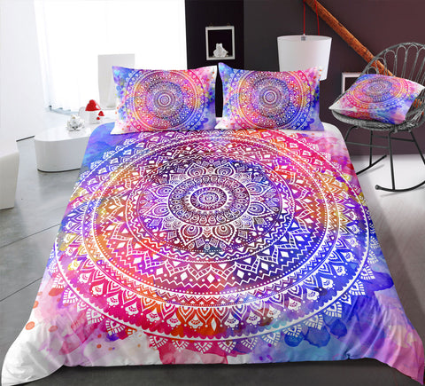 Tie-dyed Mandala Pattern Bedding Set - Beddingify