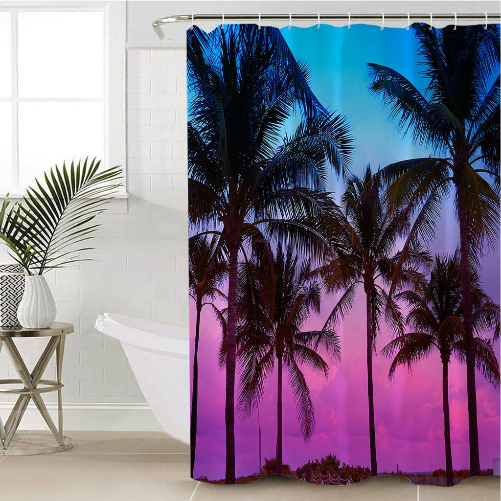 Tropical Purple Sky Shower Curtain