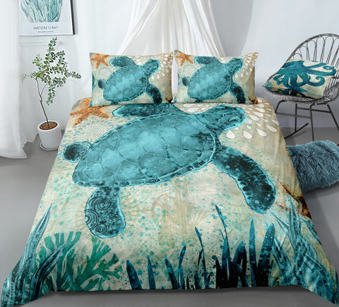 Green Turtle Bedding Set - Beddingify