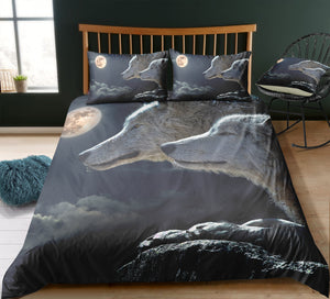 Wolves Couple Bedding Set - Beddingify