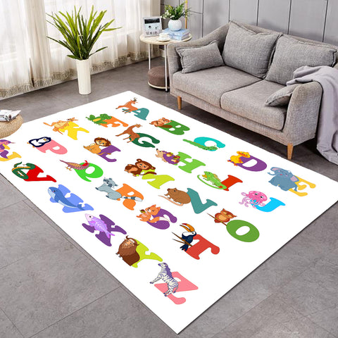 Cute Animal Alphabet SW1712 Rug