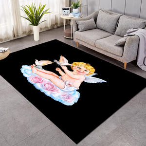 Cute Cherub Black SW1742 Rug