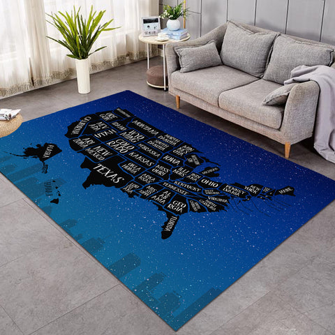Image of US States Starry SW0479 Rug