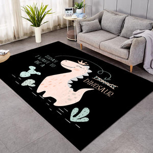 Dino Princess Black SW1747 Rug
