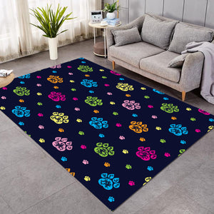 Paw Print Patterns Dark Blue SW1750 Rug