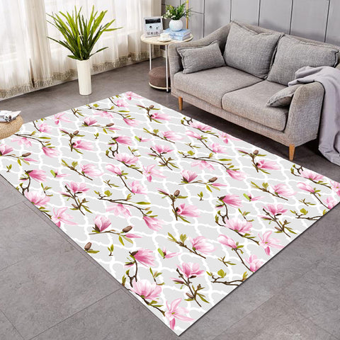 Image of Pink Orchid Wallpaper SW2062 Rug